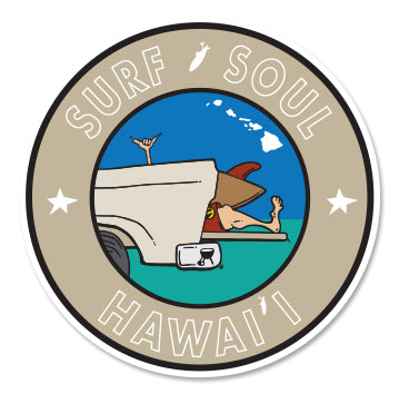 SURF SOUL HAWAII ~ TAILGATE GREM ~ STICKERS (15) ~ 3