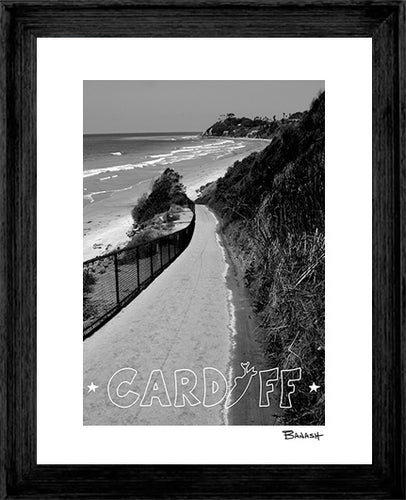 CARDIFF BY THE SEA ~ RAMP ~ LOOSE ~ BLACK FRAMED PRINT ~ 16x20