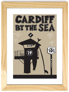 CARDIFF ~ TOWER 19 ~ SIGNED MAT ~ NATURAL FRAME ~ 16x20