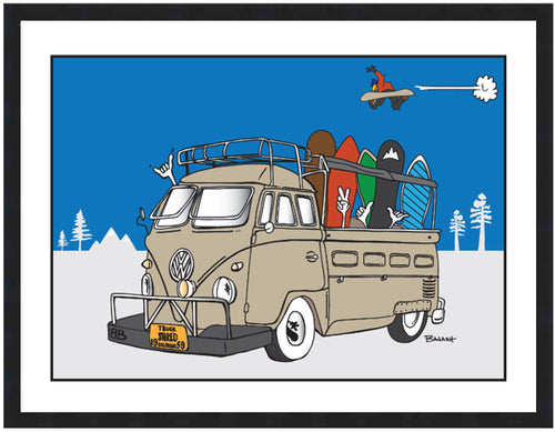 TRUCK BUS ~ BOARDER GREMS ~ SHRED ~ 16x20
