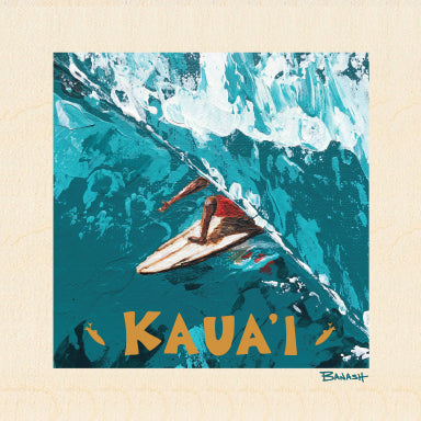 KAUAI ~ TUCK ~ BIRCH WOOD PRINT ~ 6x6
