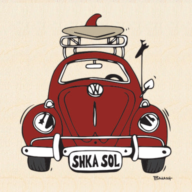 SHKA SOL ~ RED VW BUG GRILL ~ 6x6