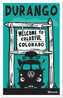 DURANGO ~ WELCOME TO COLORADO ~ RAFT BUS  ~ STICKERS (15) ~ 4x3