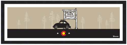 WELCOME TO COLORADO ~ BUG ~ PINES ~ CO LOGO ~ 8x24