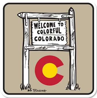 WELCOME TO COLORADO ~ CO LOGO  ~ STICKERS (15) ~ 4x4