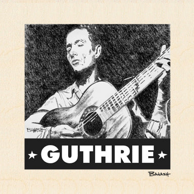 WOODY GUTHRIE ~ HARD TRAVELIN ~ 6x6