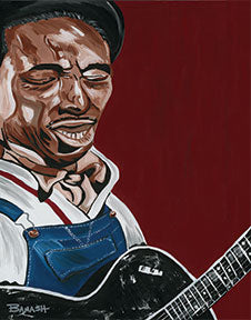 MISSISSIPPI FRED McDOWELL ~ YOU GOTTA MOVE ~ CANVAS PRINT ~ 12x20