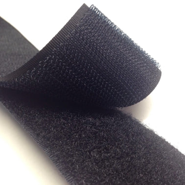 Black Hook Tape - Sew On - 25m Roll