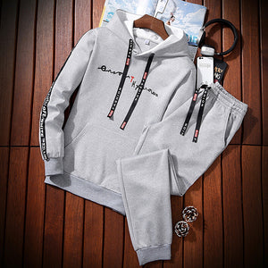 Men Casual Hooded Suit