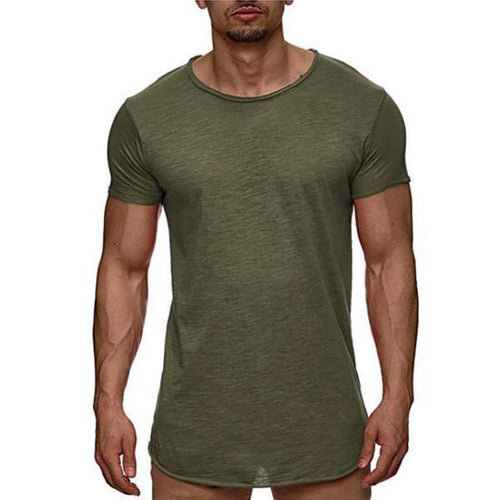 European Station Fashion New Solid Color Men's T-Shirt