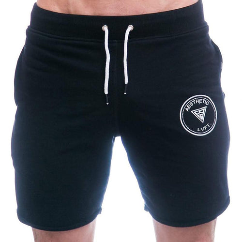 Men Running Training Stretch Cotton Sweat-Absorbent Breathable Shorts