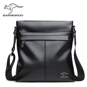Fashion Business PU Leather Zipper Men's Single Shoulder Bag, High Quality Fashion Soft Leather Men's Crossbody Bags