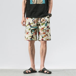 Printed Cotton Shorts 1
