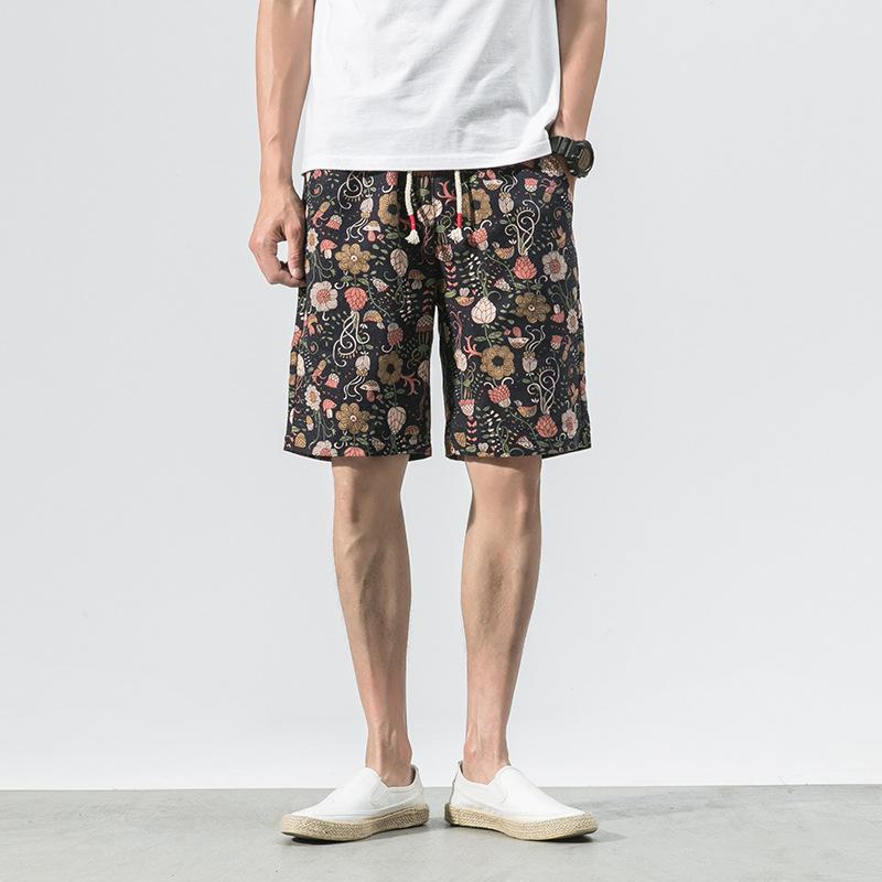 Printed Cotton Shorts 05