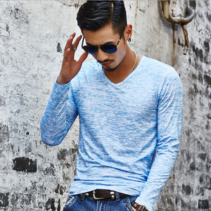 Men's Solid Color Casual Long Sleeve T-Shirt