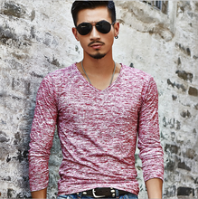 Load image into Gallery viewer, Men's Solid Color Casual Long Sleeve T-Shirt