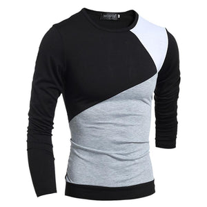 Splicing Slim Long Sleeve T-Shirt