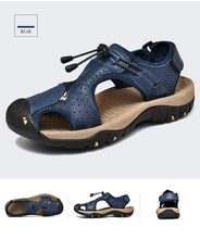 Load image into Gallery viewer, Leather Breathable Casual Beach Shoes