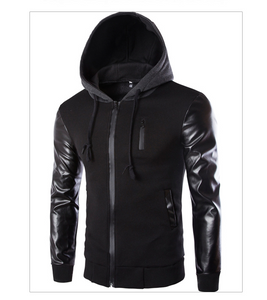 Men's Leather Long Sleeve Jacket