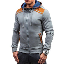 Load image into Gallery viewer, Hot Men's Leather Zipper Hoodie
