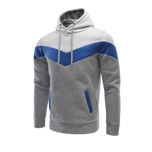 Tri-Color Stitching Hoodie