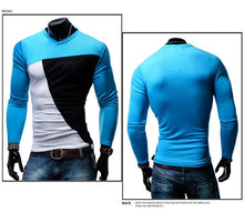 Load image into Gallery viewer, Men's Multicolor Stitching Casual Long Sleeve T-Shirt