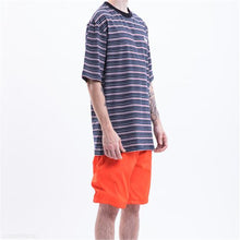 Load image into Gallery viewer, Fashion Men's Loose Strip Round Neck Short Sleeve Top