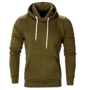 Solid Color Leisure Hoodie
