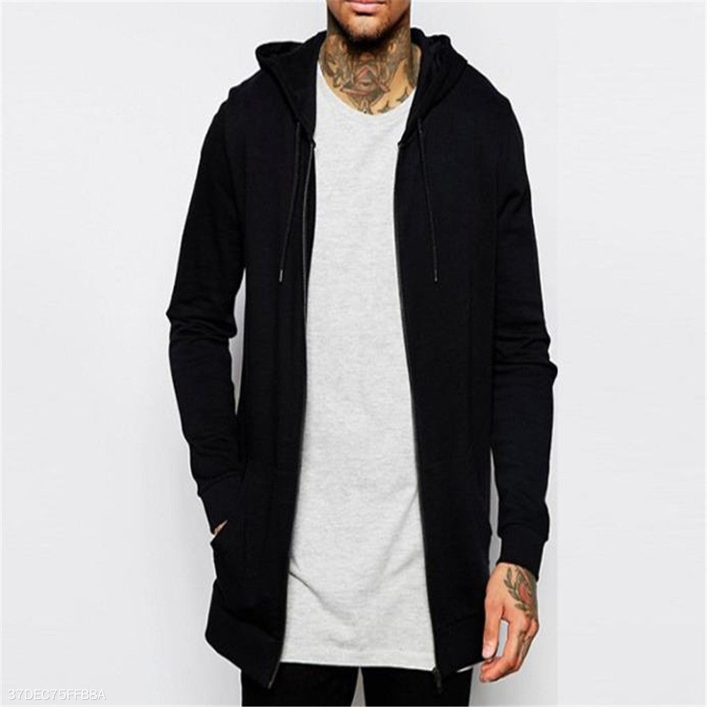 Fashion Youth Loose Plain Long Sleeve Sport Outerwear