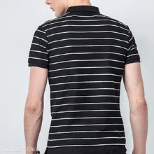 Load image into Gallery viewer, Fashion Lapel Polo Stripe Shirt
