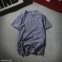 Load image into Gallery viewer, Casual V Collar Button  Plain Shirt