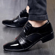 Load image into Gallery viewer, Fashion Business Plain Leather Men Shoes