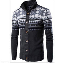 Load image into Gallery viewer, Fashion Youth Casual Slim Floral Round Neck Long Sleeve Men Sweater