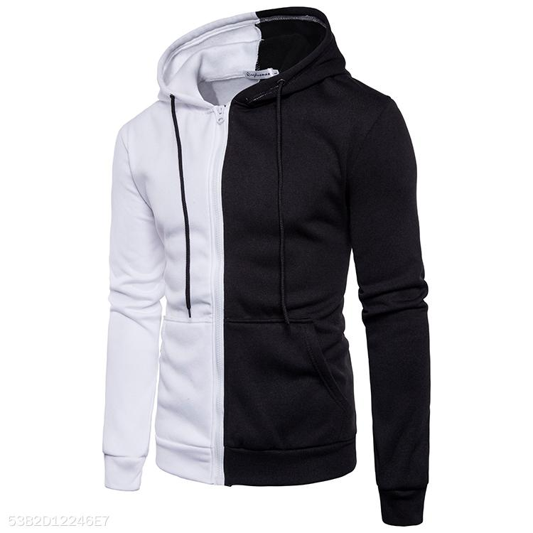 Men's 2-Color Stitching Hoodie