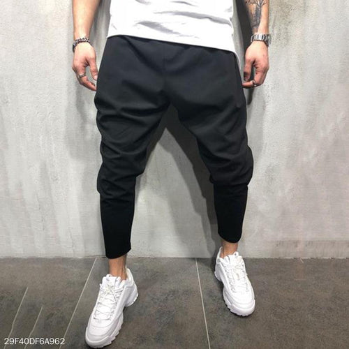 Fashion Mens Loose Plain Narrow  Leg Opening Pants