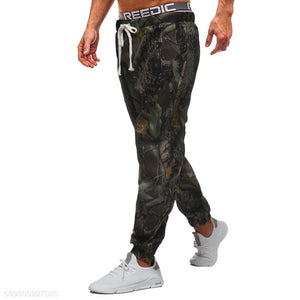 Trees Printing Loose Casual Pants