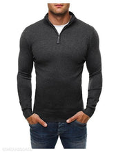 Load image into Gallery viewer, Basic Zipper High Collar Men's Sweater