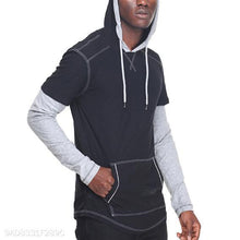 Load image into Gallery viewer, Casual Plain Split Joint Hoodie