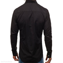 Load image into Gallery viewer, Fashion Business Slim Plain Button V Collar Long Sleeve Shirt Top