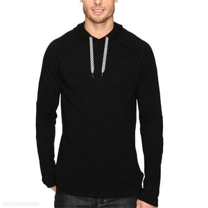 Fashion Youth Casual Sport Slim Plain Long Sleeve Top