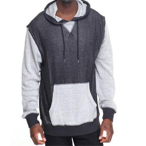 Fashion Youth Casual Sport Loose Color Block Long Sleeve Hoodie