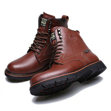 Load image into Gallery viewer, Men's Metal Eyelets High Top Water Resistant Classic Work Casual Boots