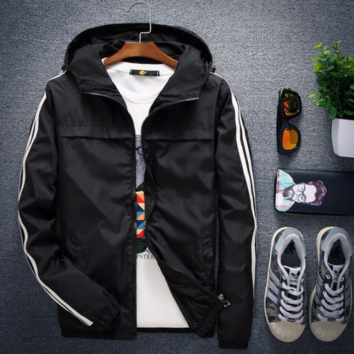 Men Plus Size High Quality Windbreaker