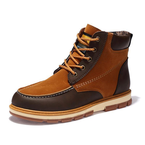 Pu Leather Ankle Boots Men Leisure Martin Winter Boots