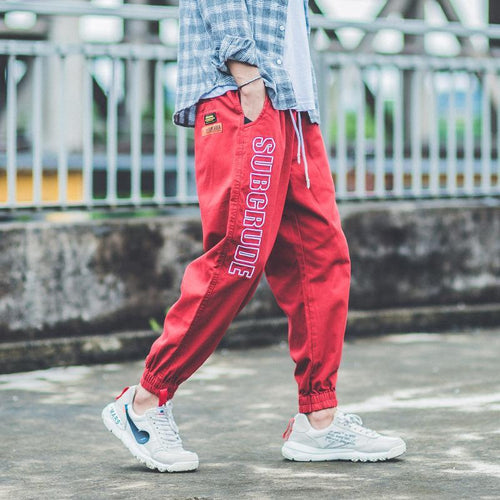 Casual Letter Printed Loose Hip Pop Casual Pants