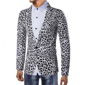 Personality One Button Suit Leopard Print Suit