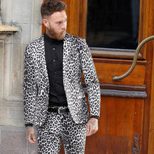 Load image into Gallery viewer, Personality One Button Suit Leopard Print Suit