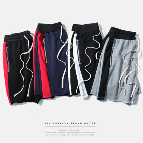 High Street 4 Color Striped Sports Shorts