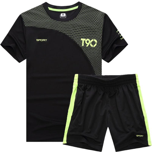 Short-Sleeved Casual Sports Men's Summer Quick-Drying Thin Section Sweat-Absorbent Breathable Loose Badminton Suits