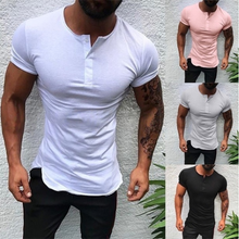 Load image into Gallery viewer, Men's Fashion Minimalist Solid Color Slim T-Shirt